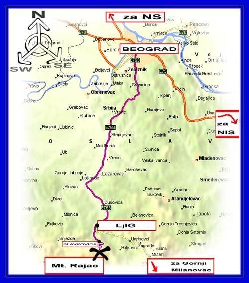 rajac mapa srbije Autokarta rajac mapa srbije